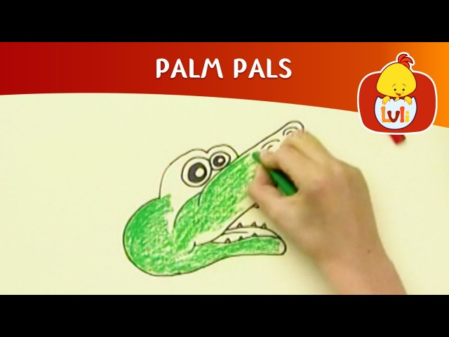 Kids' English | Palm Pals | How to draw alligator and Wolf? | Cartoon for Children - Luli TV