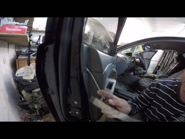 Geely MK disassembly door -Geely MK разборка двери part II