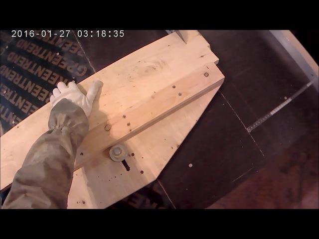 циркулярный стол с независимой подвижной частью для быстрого торцевания или раскроя