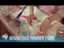 Mixing Face Powder: Retro Cosmetics (1958) | British Pathé