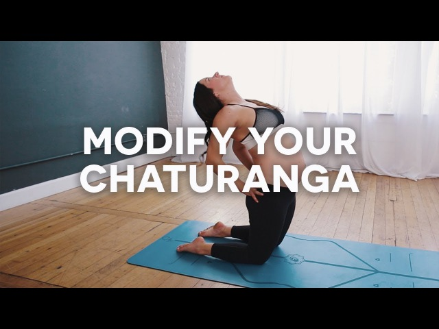 Chaturanga Modifications for Pregnancy with MacKenzie Miler