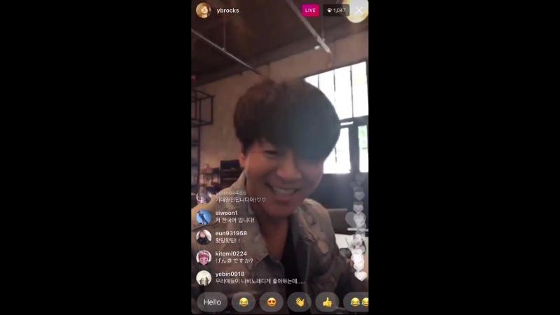 [YBROCKS] 180601 - - Taehyun Wonyoung in YB's Yoon Dohyun and FTISLAND's Lee Hongki's IG live