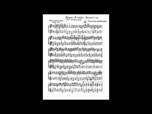 AAMURUSKO-SOTTIISI, Matti Söderlund harmonikkasoolo v.1928
