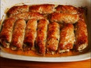 РУЛЕТИКИ из свинины с грибами и соленым огурцом запеченные в духовке МЯСО в духовке