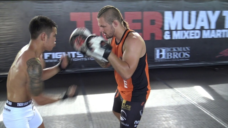 Thai MMA fighters conditioning workout