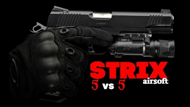 5 vs 5 Страйкбольный геймплей STRIX AIRSOFT (Юнга и Платон)