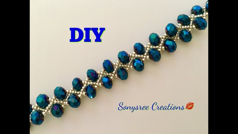 DIY Beaded bracelet Gorgeous ,Stunning , Fantabulous 😃👏🏼👱🏻‍♀️👩🏻