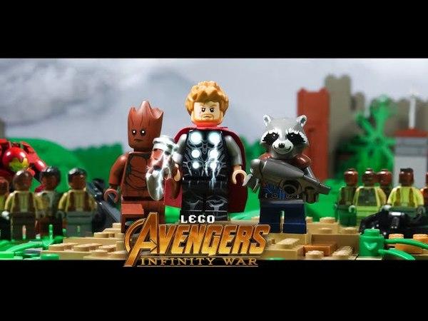 Avengers Infinity War Thor Arrives in Wakanda in LEGO
