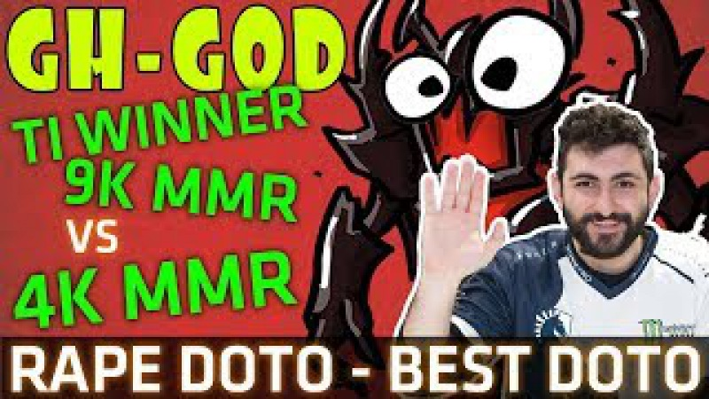 Dota 2 7.07b - GH-GOD Shadow Fiend - TI Winner 9K MMR RAPE 4K - X3 Rampage