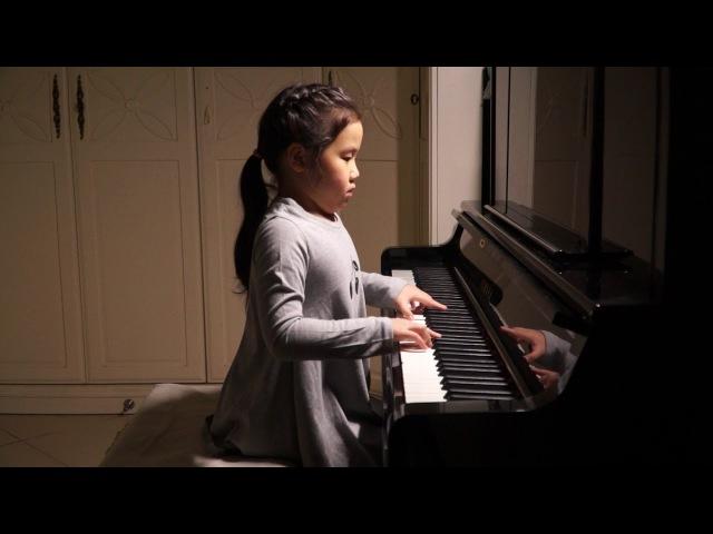 Anke Chen_Age 6_Plays Marcello-Bach Concerto in D minor BWV974_ Adagio
