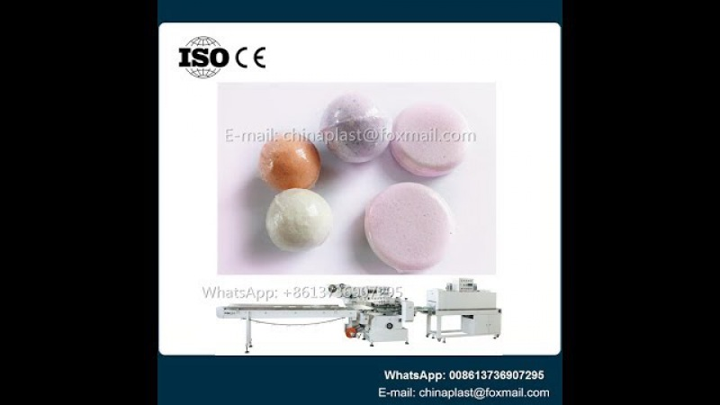 Automatic Shrink Pack Bath Salt Bombs Flow Wrapper Machine-bath ball