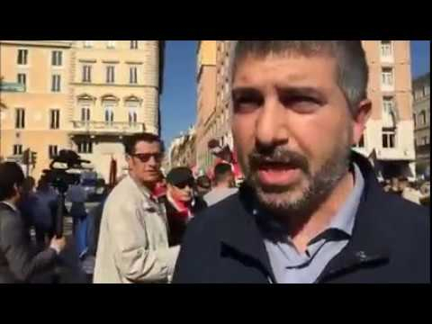 Manifestazione di CasaPound per la Siria davanti l'ambasciata americana di Roma