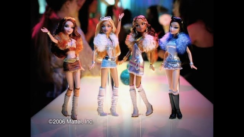 Barbie My Scene My Bling Bling dolls commercial 1! 2005 HD