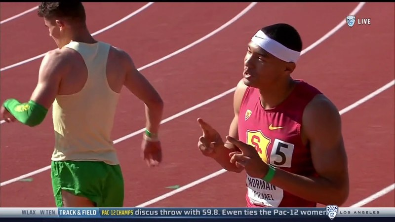 2018 Pac-12 Championships - Michael Norman - 200 Meter Dash - 19.84 (Wind: 2.8 m/s)