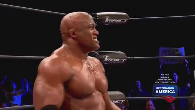 Lashley hits a MASSIVE spear on Austin Aries - 1/30/15 Impact