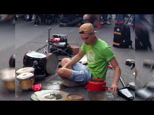 DAMAT - Techno street drummer - part 1 of 2