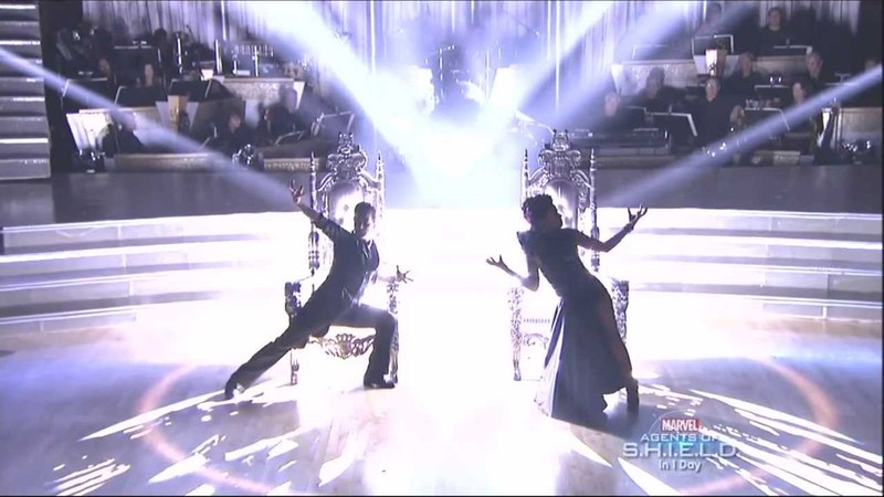 Mark Ballas and Christina Milian dancing Paso Doble on DWTS 9 23 13