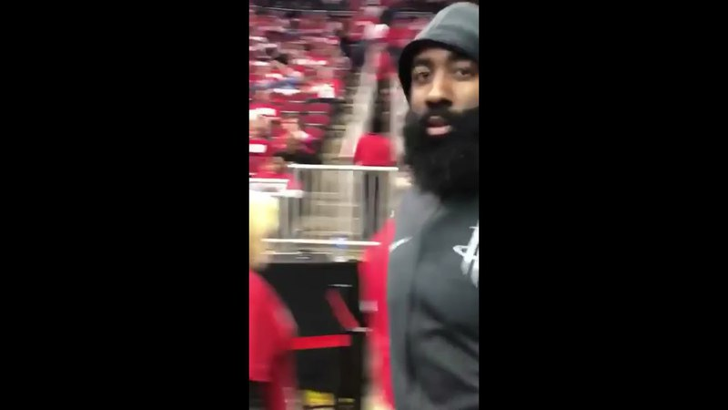 "James Harden Slaps Utah Jazz Fan's Phone After Being Called ""Worst Flopper In The NBA"
