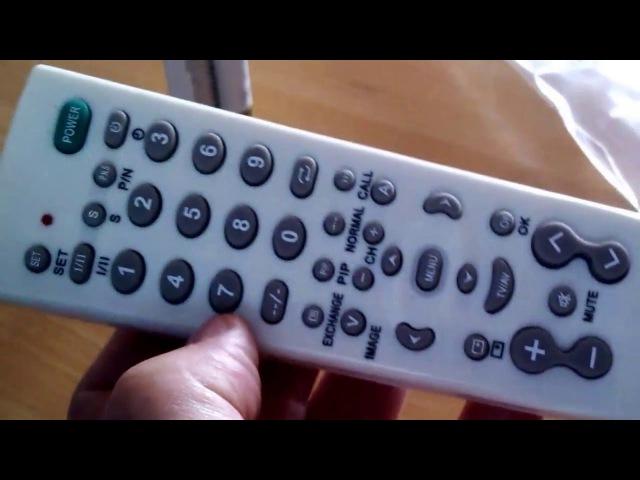 Universal remote control TV-139F (china made) code