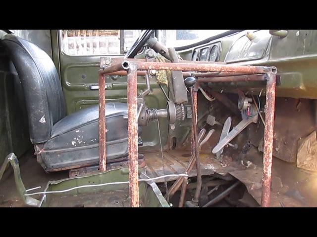 Снятие коробки передач для ремонта сцепления на Зил 130