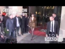 Белла покидает отель «Royal Monceau» и прибывает на вечеринку «Vogue»/«CDFA», Париж (02.03.18)