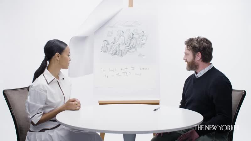 Зои Салдана и Зак Галифианакис играют в игру «Название для комикса» для «The New Yorker»