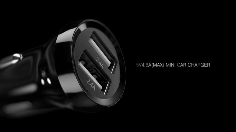 Ugreen автомобильное зарядное устройство, 4.8A Dual USB