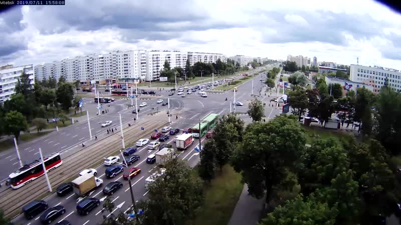 Авария Витебск перекресток Московский пр-т - пр-т Победы