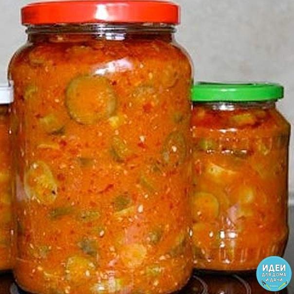 Огурцы в томатно-чесночной заливке