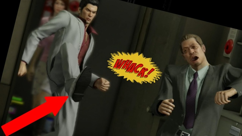 Kiryu kicks a door open and sends a guy flying across the room in the process for an entire hour