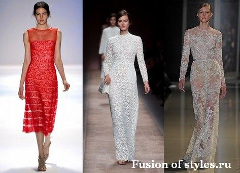 Кружевные платья в женском гардеробе: