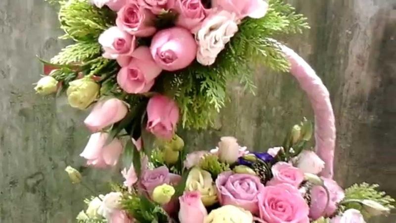 Giỏ hoa chúc mừng 20/10, quà tặng 20/10, dịch vụ điện hoa, hoa tươi