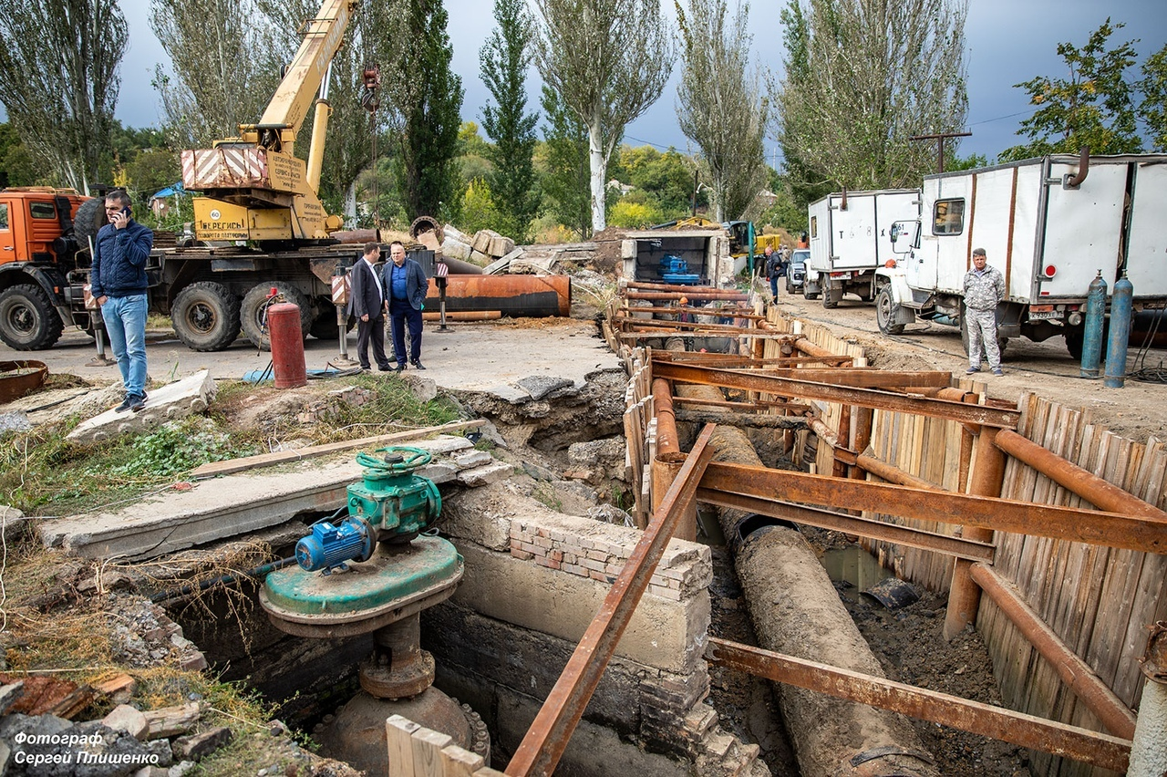 Работы на Донском техническом водоводе в Недвиговке завершены