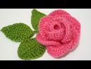 كروشيه طريقة عمل وردة سهلة وبسيطة DIY to Crochet a simple flower