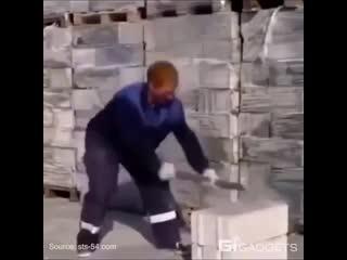 Тест на прочность - суперкирпич - Строим дом своими руками