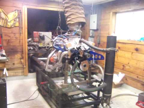 Steve clukeys small block 340 stroker motor on the dyno, 753 hp 612 lbs of torque 1