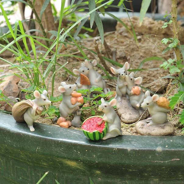 Даже мыши могут стать украшением на даче) Какая красота! Идеи