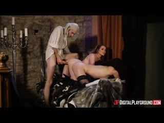 Ella Hughes and Olive Glass - The bewitcher a dp xxx parody epis