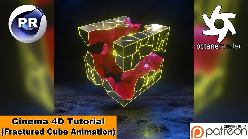 FRACTURED CUBE ANIMATION Cinema 4D Tutorial