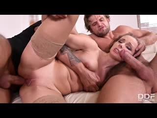 Kinuski - Blonde Babe Tag Teamed At Work - Porno, Anal, DP, MILF, Threesome, Blowjob, Blonde, Gonzo Hardcore Facial, Porn, Порно