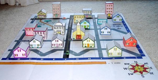 Комплексная игровая поделка: Бумажный город Бумажный городок это очень интересная игра. Она растянута во времени на месяцы и даже годы, потому что, как и настоящие, бумажные города имеют