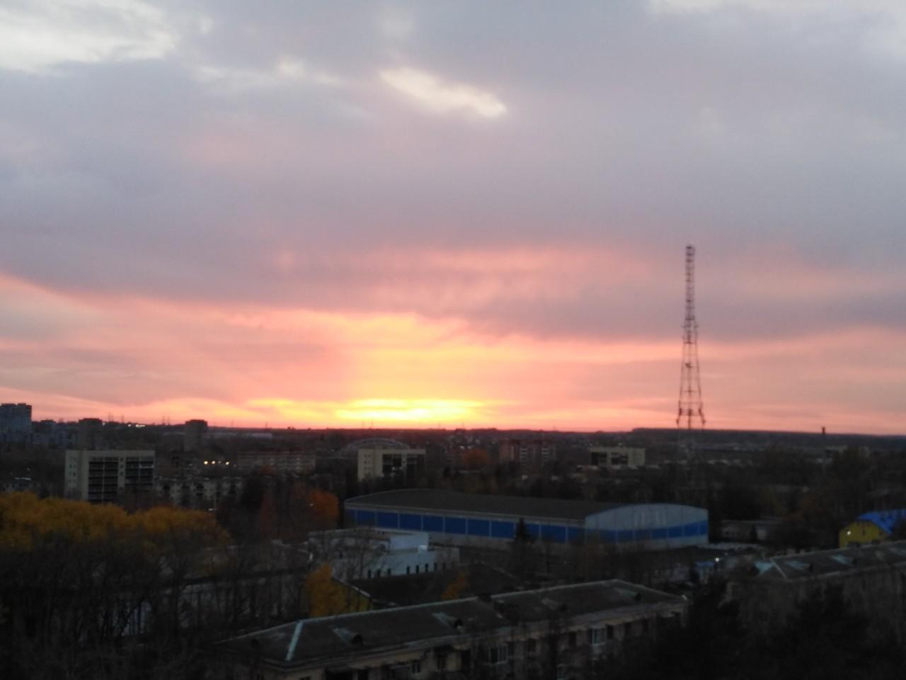 Красивый сегодня закат