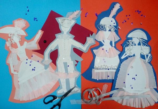 ПОДЕЛКИ ИЗ БУМАГИ ДЛЯ ДЕТЕЙ. Костюм периода романтизма. Платья в стиле романтизм разделяются на повседневные и бальные. У повседневных платьев отсутствует декольте. У бальных платьев зачастую