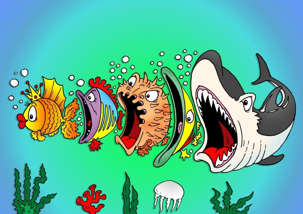 Рисунок рыба смешной