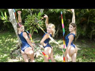 Katie Kush, Kenzie Madison, Lea Lee - Gymnasdick Training (Fours