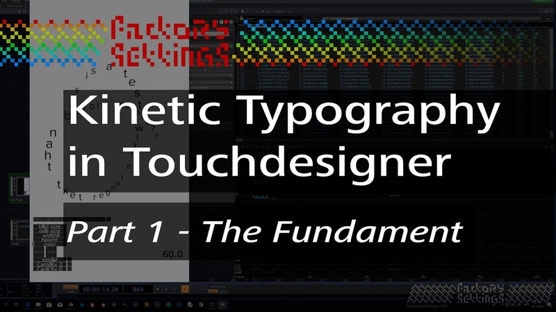 Kinetic Typography Sentence instancing with Touchdesigner - PART 1