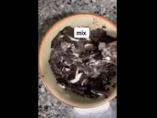 Кекс из орео в микроволновке