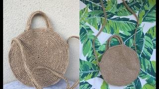 15 TL' Ye Kolay Hasr anta Yapm / DIY ROPE ROUND BAG
