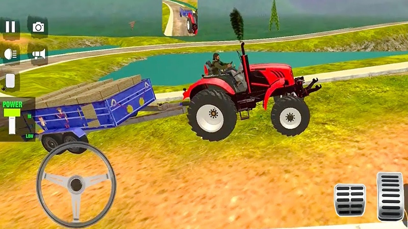 Real Tractor Trolley Cargo Farming Simulation Game Tractor Game Driving Android Gameplay 2