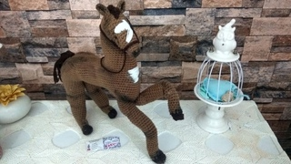 Cavallo Macchia SUB ESP. SUB-ENG SUB -PORT  horse amigurumi facile semplice  cavalo caballo  Pferd